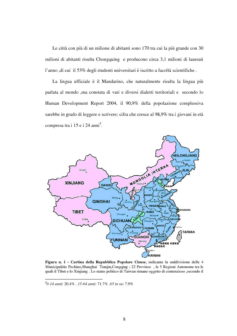 Anteprima della tesi: Prodotti agroalimentari: rapporti Italia-Cina. Il commercio, il rischio della concorrenza e le opportunità di un nuovo mercato, Pagina 2
