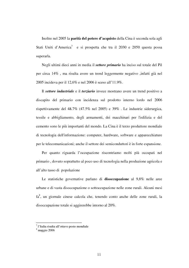 Anteprima della tesi: Prodotti agroalimentari: rapporti Italia-Cina. Il commercio, il rischio della concorrenza e le opportunità di un nuovo mercato, Pagina 5