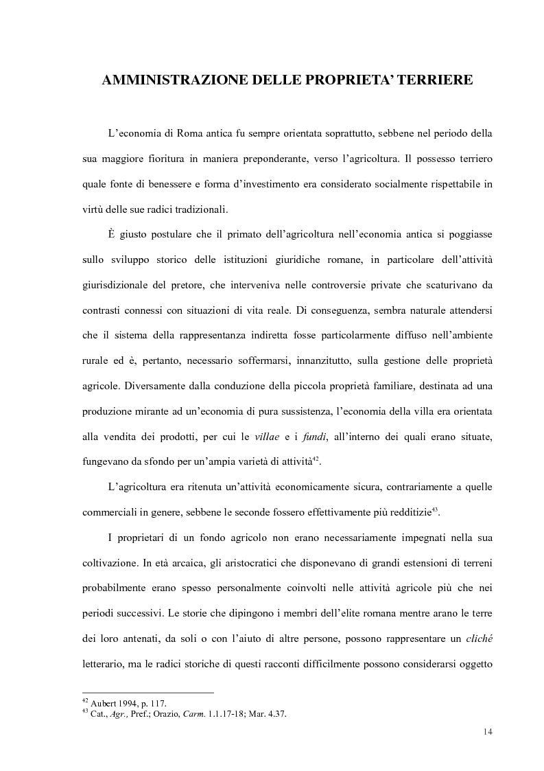 Anteprima della tesi: Organizzazione del lavoro nelle proprietà rurali in età Imperiale (con particolare attenzione al personale epigraficamente attestato in Puglia), Pagina 11