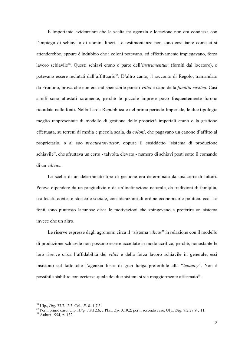Anteprima della tesi: Organizzazione del lavoro nelle proprietà rurali in età Imperiale (con particolare attenzione al personale epigraficamente attestato in Puglia), Pagina 15
