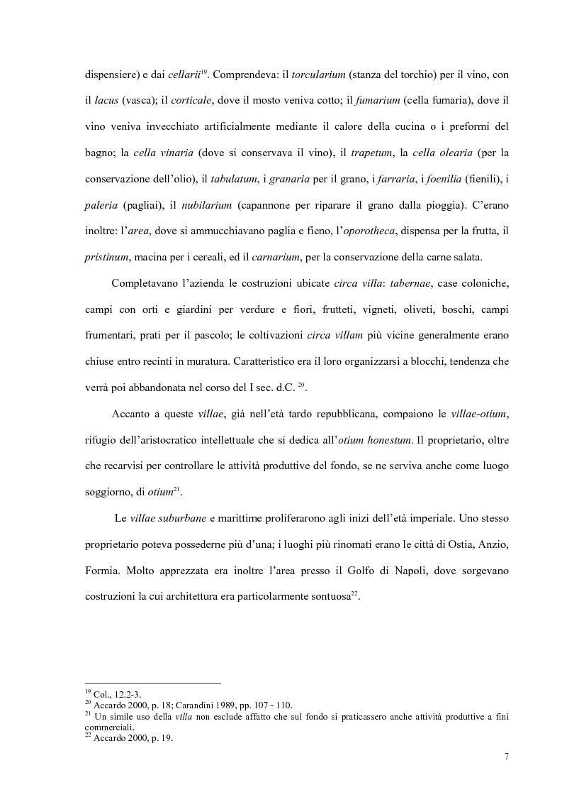 Anteprima della tesi: Organizzazione del lavoro nelle proprietà rurali in età Imperiale (con particolare attenzione al personale epigraficamente attestato in Puglia), Pagina 4