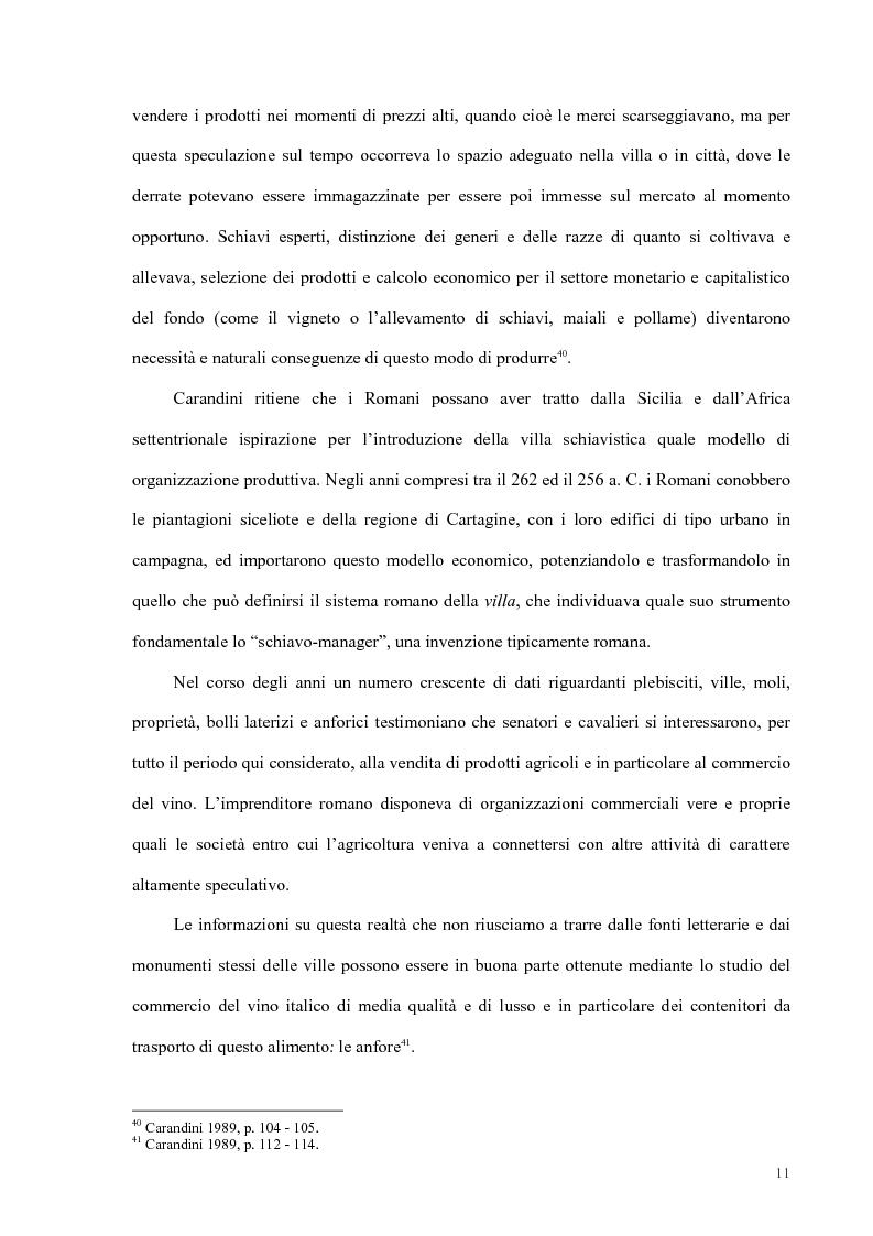 Anteprima della tesi: Organizzazione del lavoro nelle proprietà rurali in età Imperiale (con particolare attenzione al personale epigraficamente attestato in Puglia), Pagina 8