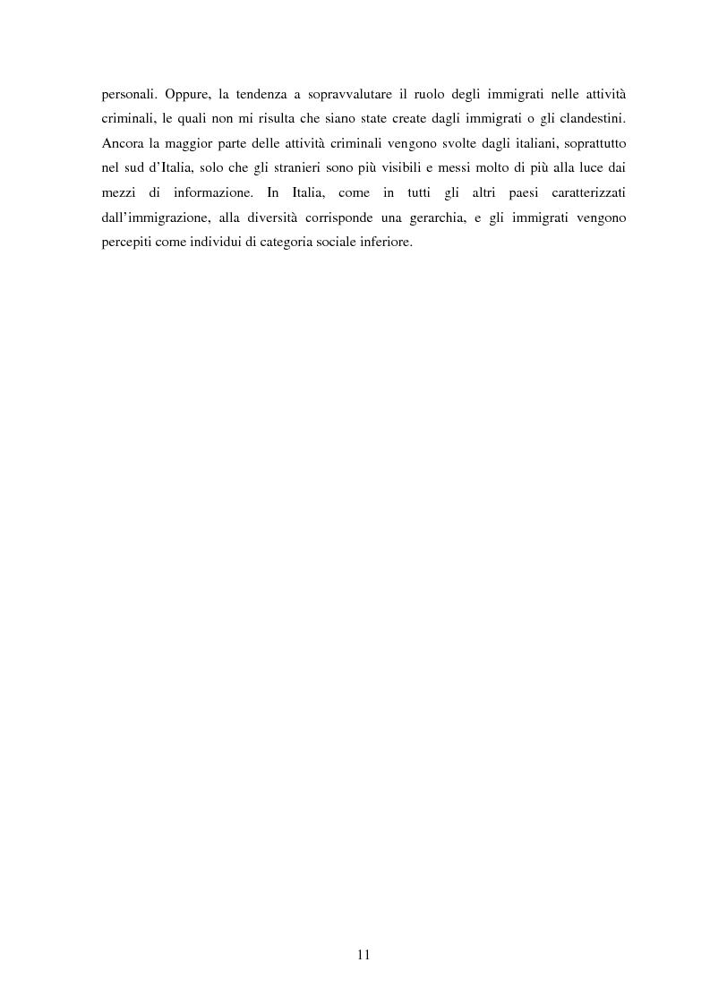 Anteprima della tesi: Aquile in fuga. L'immigrazione albanese in Italia tra costruzioni mediatiche, vincoli legislativi e sogni d'integrazione, Pagina 7