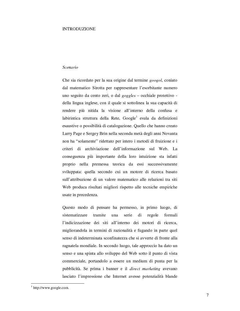 Anteprima della tesi: Search Engine Optimization nell'evoluzione dei motori di ricerca e nel Web semantico, Pagina 1