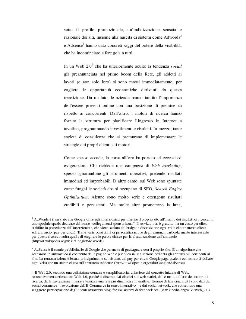 Anteprima della tesi: Search Engine Optimization nell'evoluzione dei motori di ricerca e nel Web semantico, Pagina 2