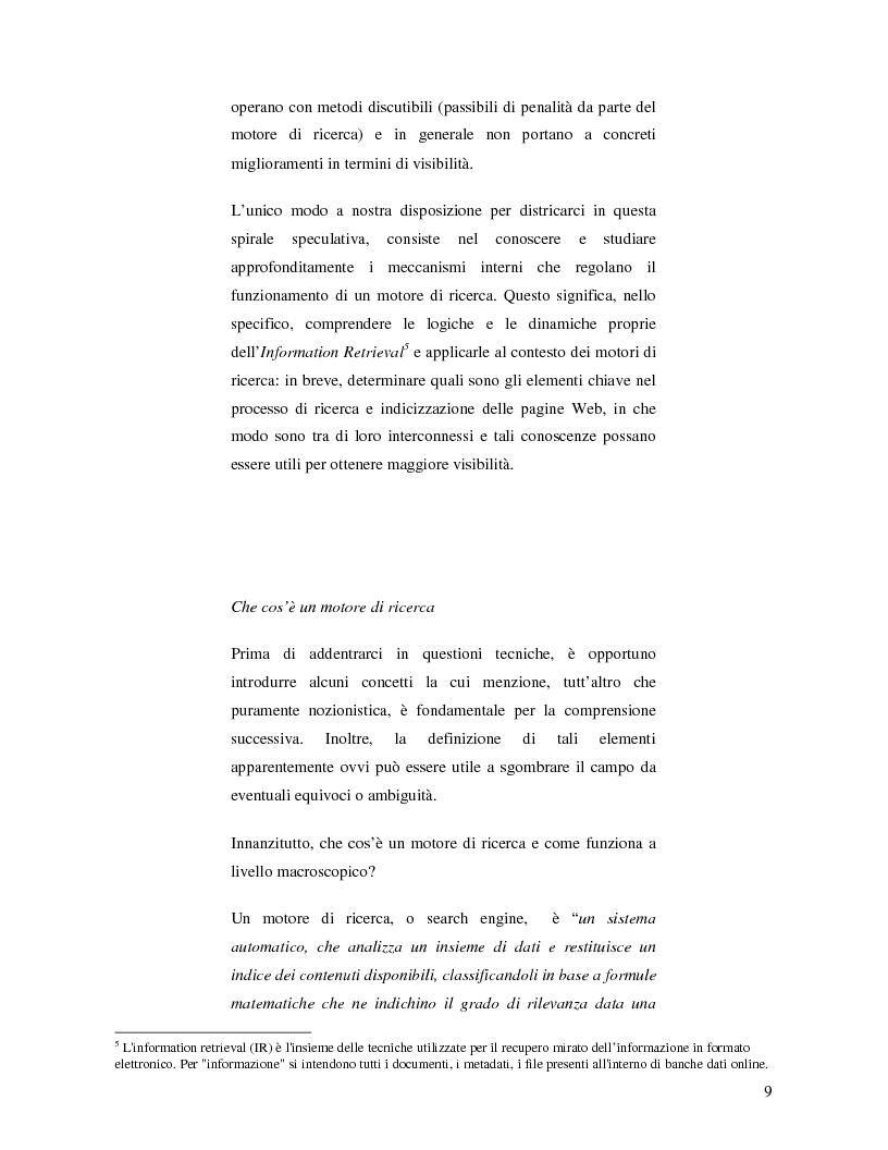 Anteprima della tesi: Search Engine Optimization nell'evoluzione dei motori di ricerca e nel Web semantico, Pagina 3