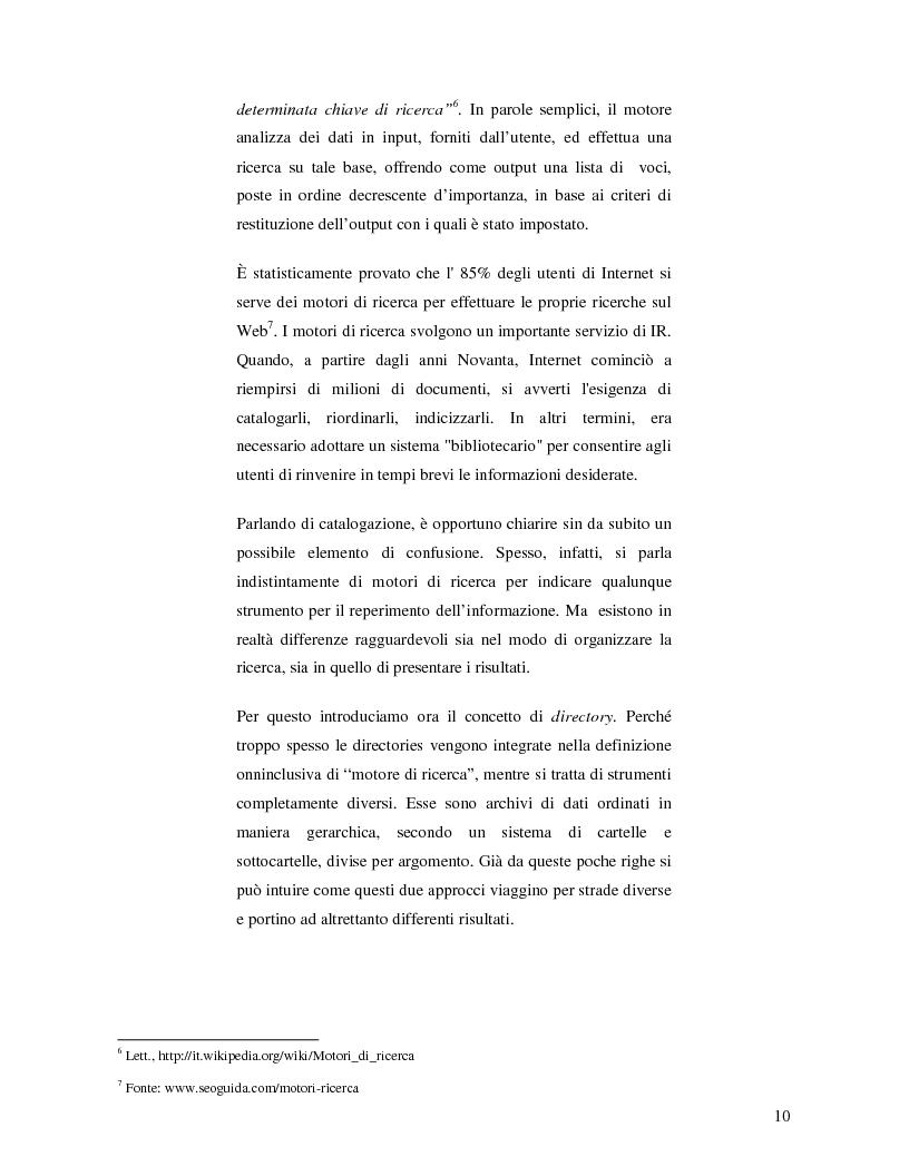 Anteprima della tesi: Search Engine Optimization nell'evoluzione dei motori di ricerca e nel Web semantico, Pagina 4