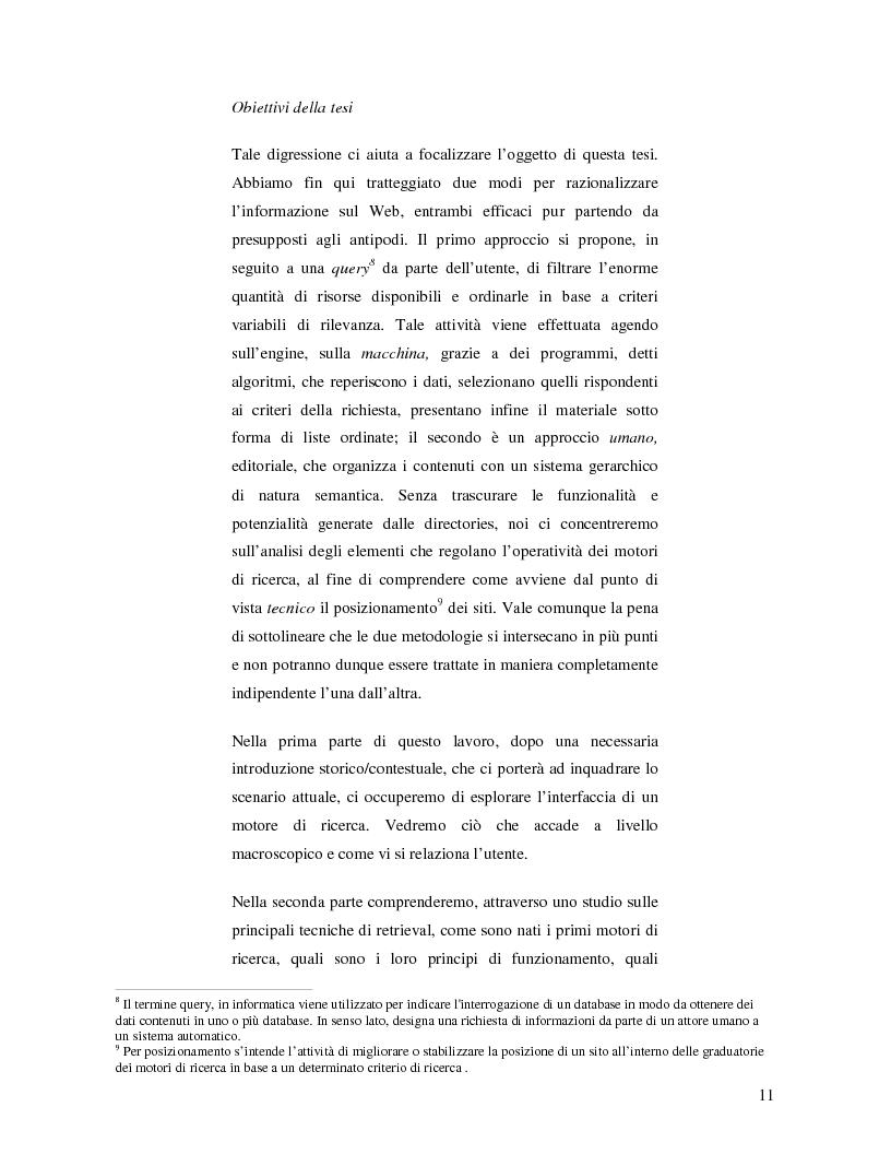 Anteprima della tesi: Search Engine Optimization nell'evoluzione dei motori di ricerca e nel Web semantico, Pagina 5