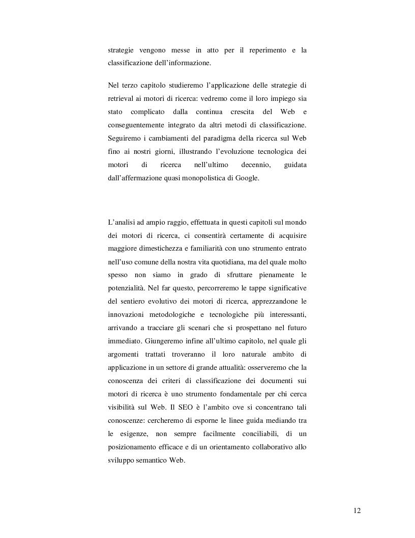Anteprima della tesi: Search Engine Optimization nell'evoluzione dei motori di ricerca e nel Web semantico, Pagina 6