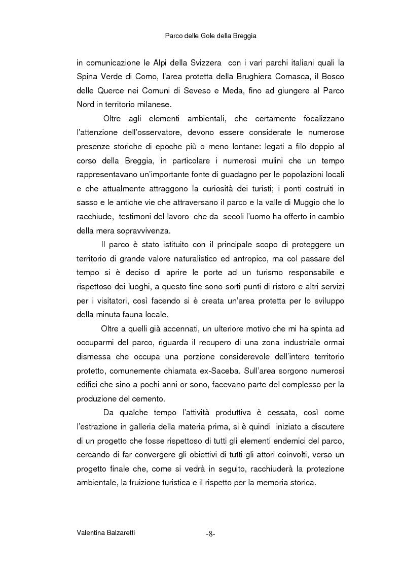 Anteprima della tesi: Parco delle Gole della Breggia - La storia geologica, le trasformazioni antropiche ed il recupero ambientale nella Valle del torrente Breggia, Pagina 2