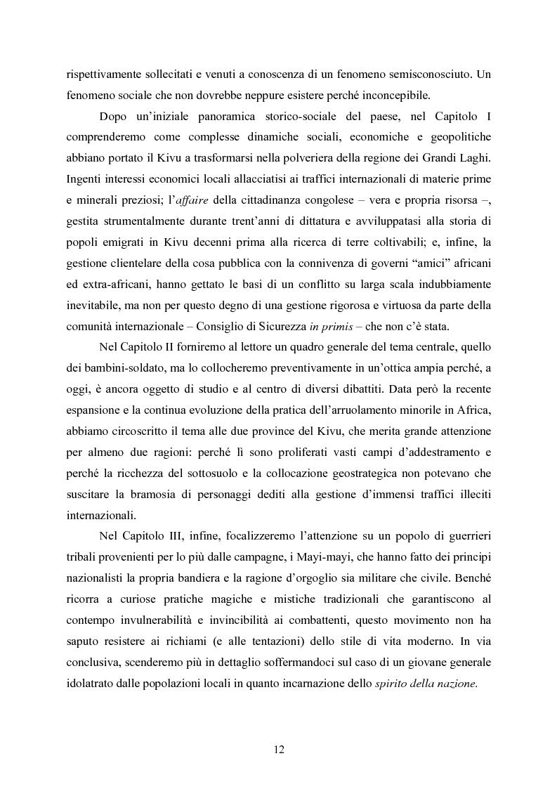 """Anteprima della tesi: """"Kadogo"""": bambini-soldato della Repubblica Democratica del Congo. Il caso dei Mayi-mayi in Kivu, Pagina 10"""