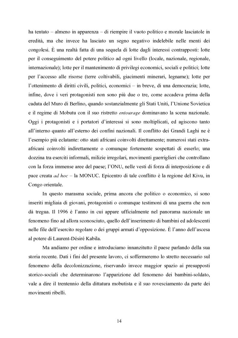 """Anteprima della tesi: """"Kadogo"""": bambini-soldato della Repubblica Democratica del Congo. Il caso dei Mayi-mayi in Kivu, Pagina 12"""