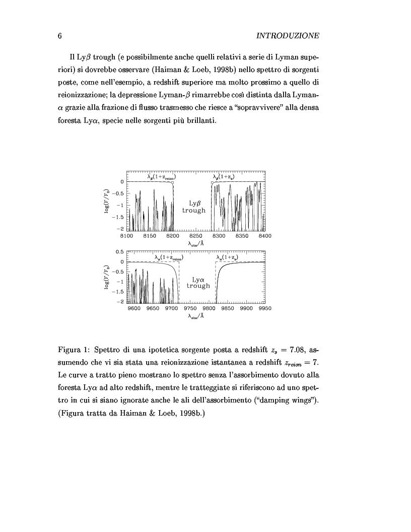 Anteprima della tesi: Il ruolo dei quasars nel processo di reionizzazione dell'universo, Pagina 4