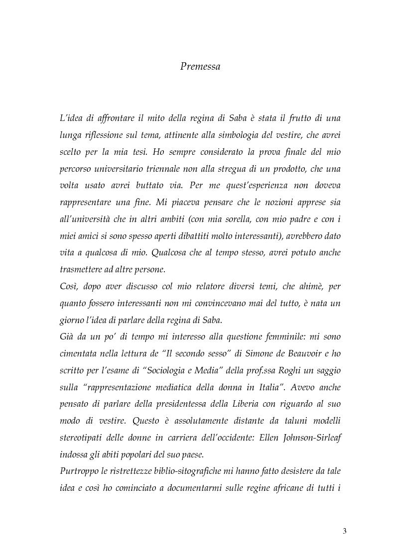 Anteprima della tesi: La regina di Saba: rielaborazione cinematografica di un tema mitico, Pagina 1