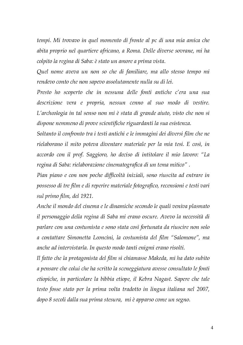 Anteprima della tesi: La regina di Saba: rielaborazione cinematografica di un tema mitico, Pagina 2