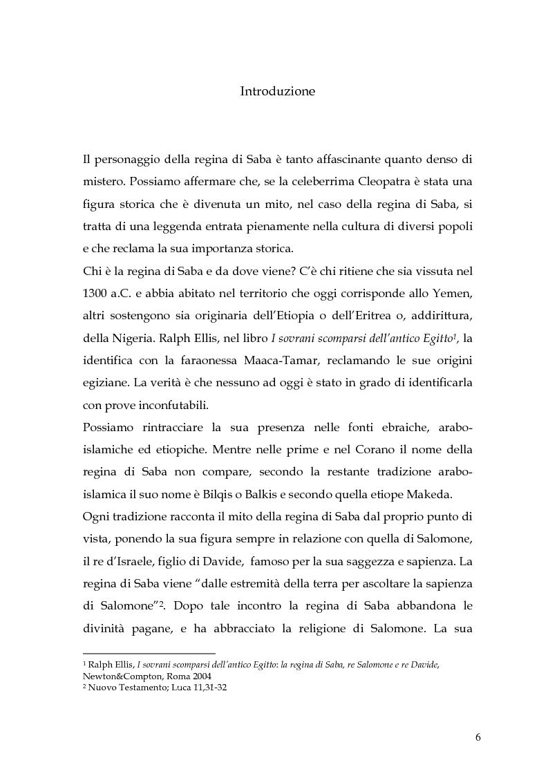 Anteprima della tesi: La regina di Saba: rielaborazione cinematografica di un tema mitico, Pagina 4