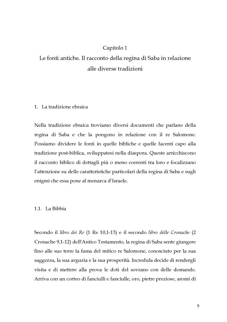 Anteprima della tesi: La regina di Saba: rielaborazione cinematografica di un tema mitico, Pagina 7