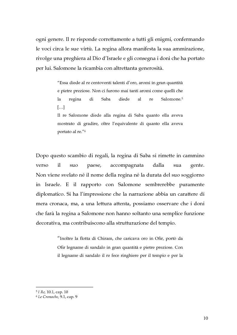 Anteprima della tesi: La regina di Saba: rielaborazione cinematografica di un tema mitico, Pagina 8