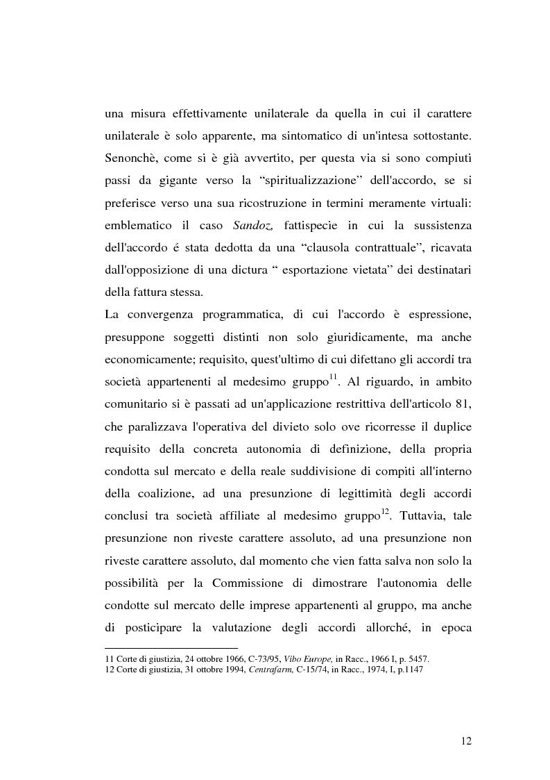 Anteprima della tesi: Le intese verticali nell'ambito della legge antitrust, Pagina 10