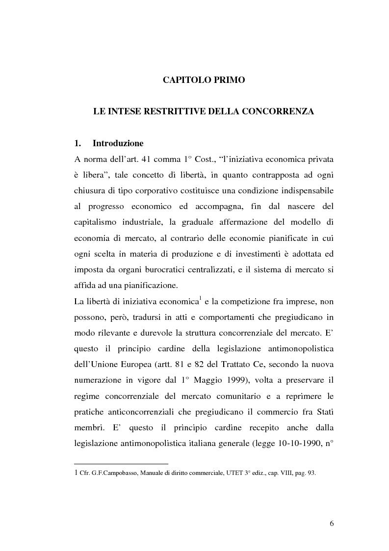 Anteprima della tesi: Le intese verticali nell'ambito della legge antitrust, Pagina 4