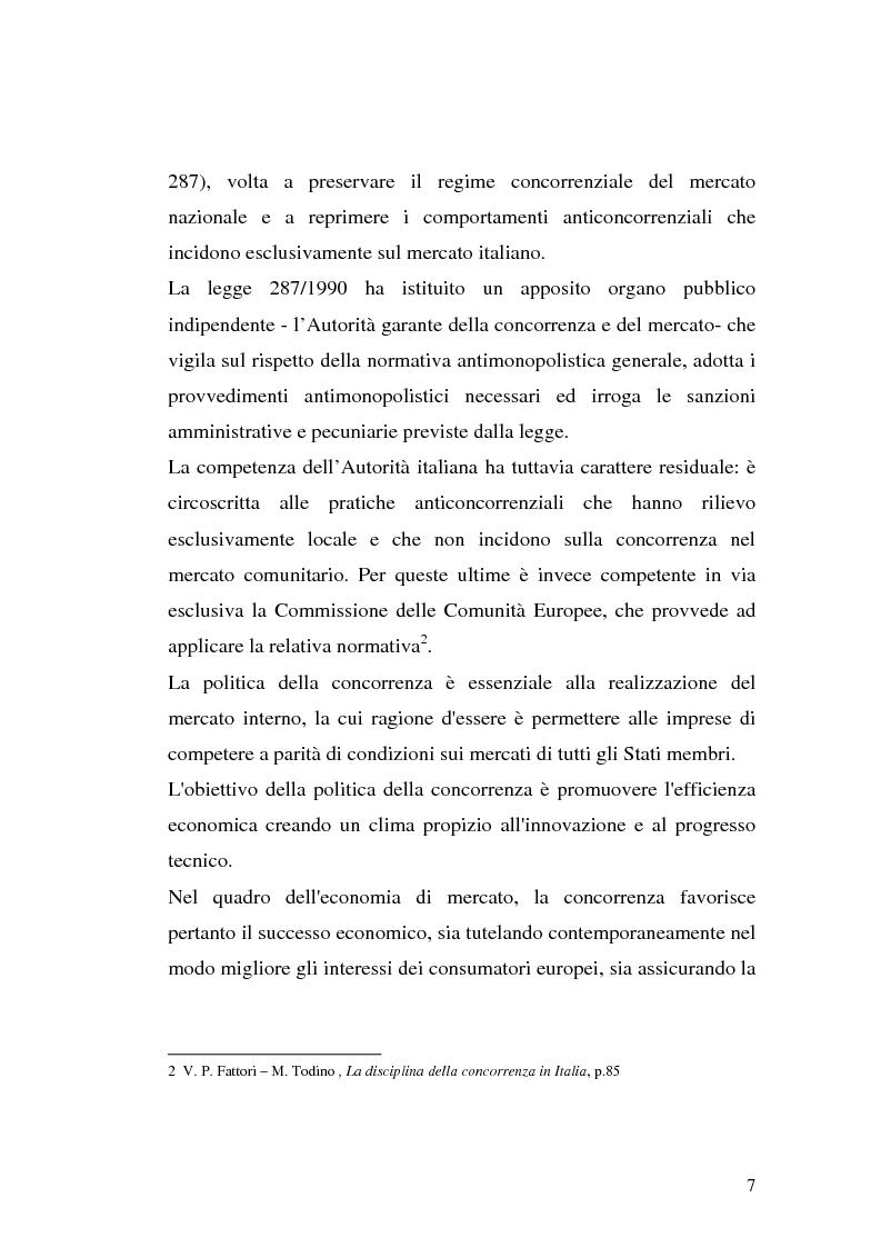 Anteprima della tesi: Le intese verticali nell'ambito della legge antitrust, Pagina 5