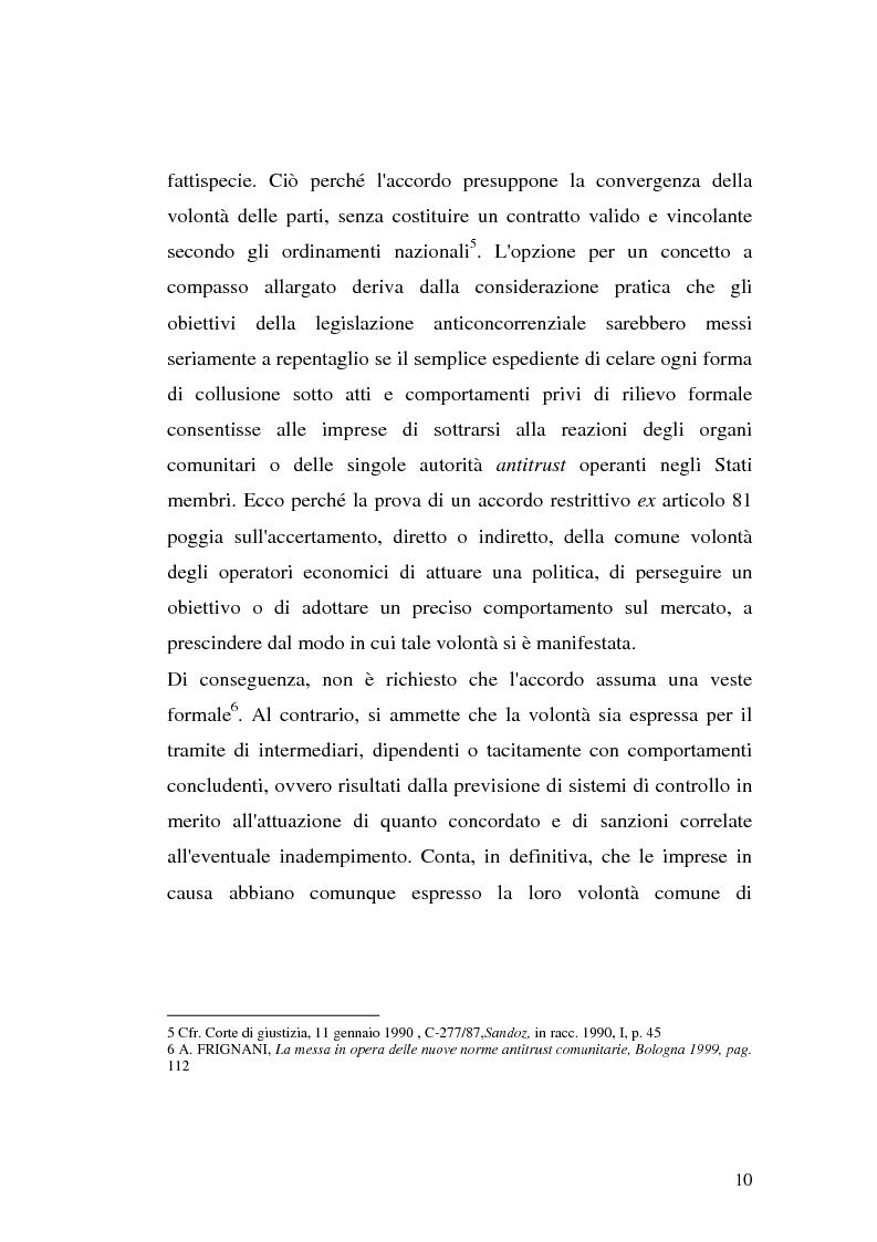 Anteprima della tesi: Le intese verticali nell'ambito della legge antitrust, Pagina 8