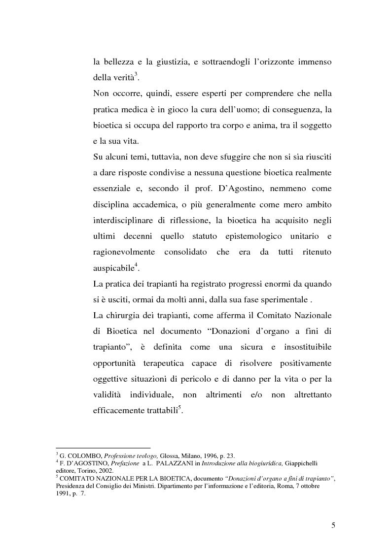 Anteprima della tesi: Problemi biogiuridici dei trapianti di organi, Pagina 2
