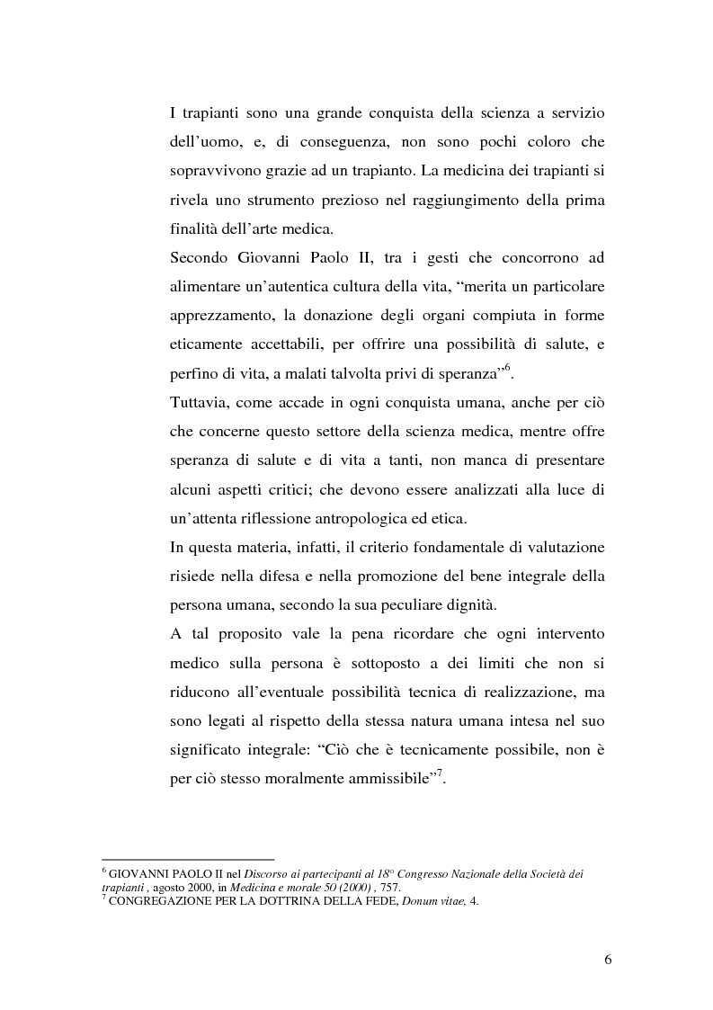 Anteprima della tesi: Problemi biogiuridici dei trapianti di organi, Pagina 3