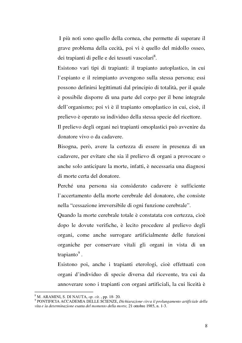 Anteprima della tesi: Problemi biogiuridici dei trapianti di organi, Pagina 5
