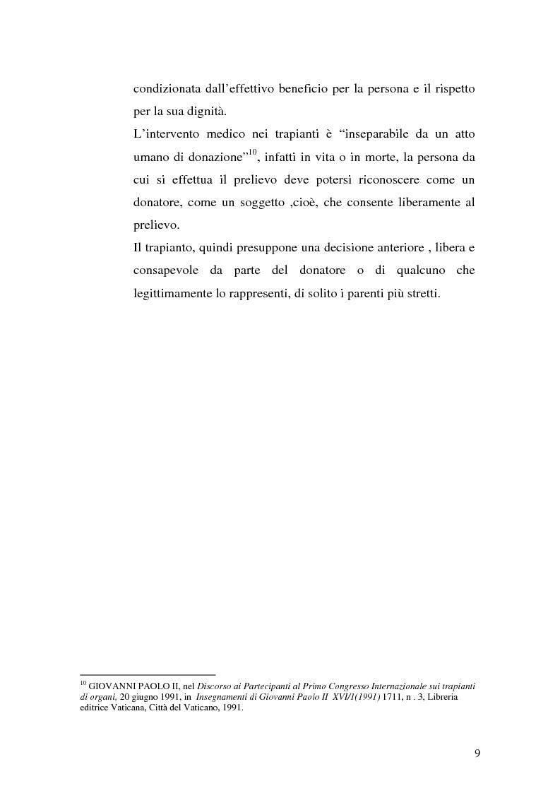 Anteprima della tesi: Problemi biogiuridici dei trapianti di organi, Pagina 6