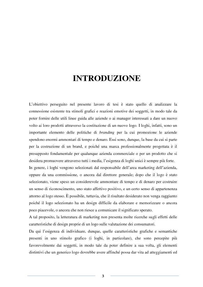 Il design emozionale dei loghi: effetti delle caratteristiche grafiche e semantiche - Tesi di Laurea