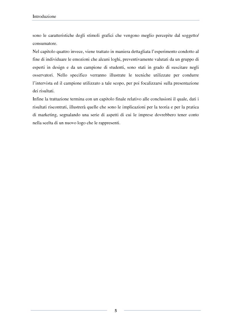Anteprima della tesi: Il design emozionale dei loghi: effetti delle caratteristiche grafiche e semantiche, Pagina 3