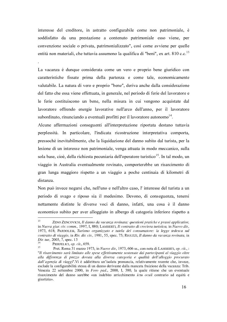 Anteprima della tesi: Il danno da vacanza rovinata come danno non patrimoniale da inadempimento contrattuale, Pagina 12
