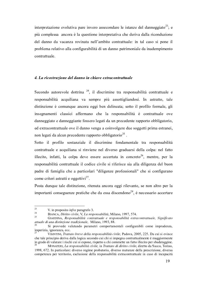 Anteprima della tesi: Il danno da vacanza rovinata come danno non patrimoniale da inadempimento contrattuale, Pagina 15