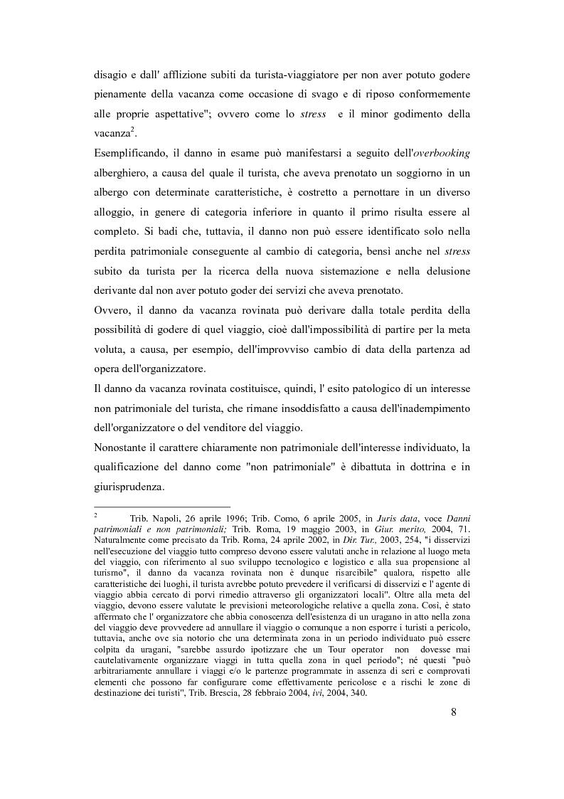 Anteprima della tesi: Il danno da vacanza rovinata come danno non patrimoniale da inadempimento contrattuale, Pagina 4