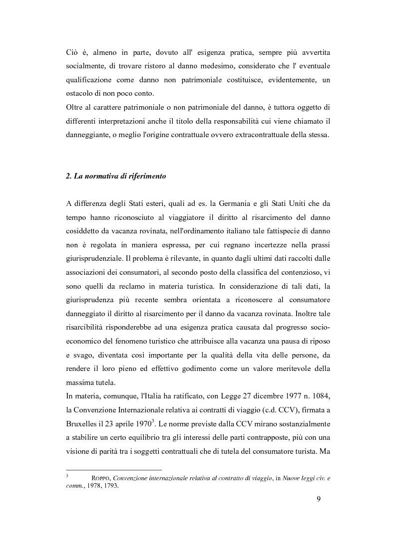 Anteprima della tesi: Il danno da vacanza rovinata come danno non patrimoniale da inadempimento contrattuale, Pagina 5