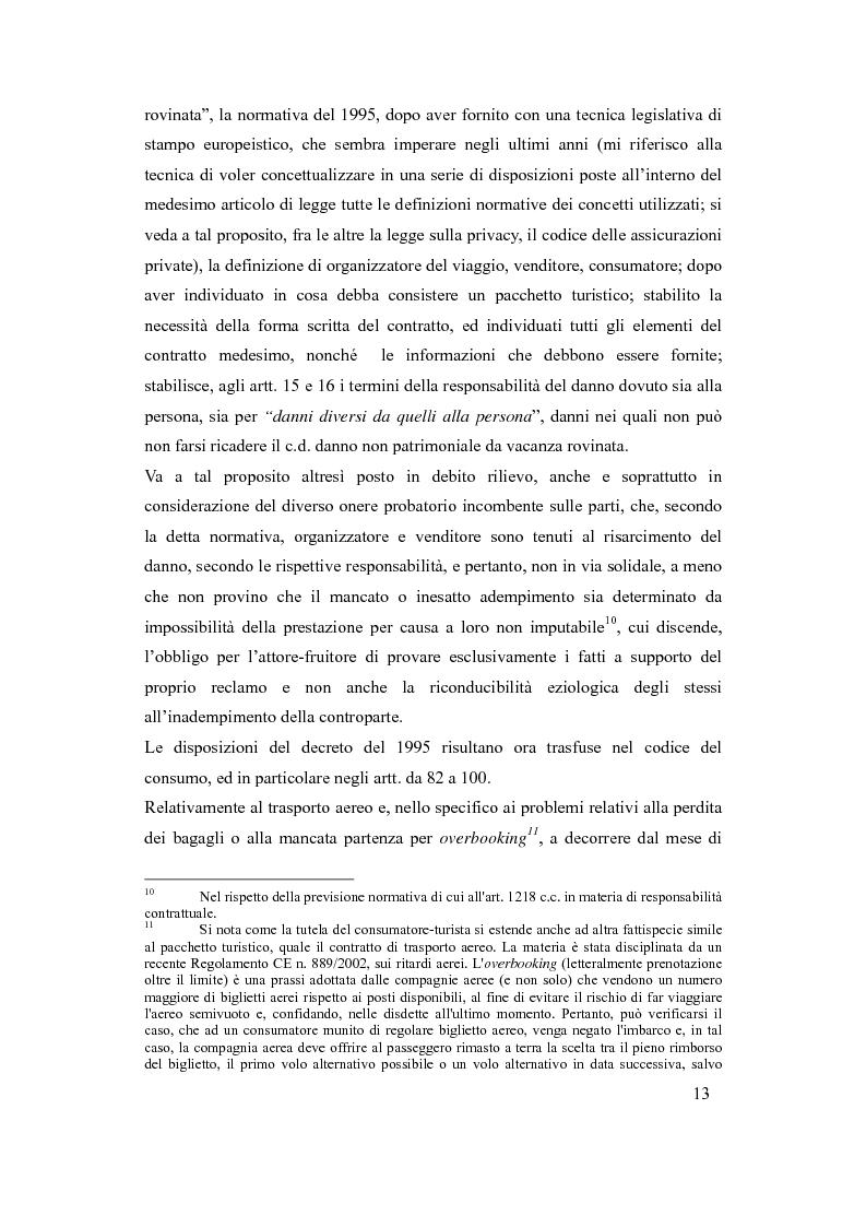 Anteprima della tesi: Il danno da vacanza rovinata come danno non patrimoniale da inadempimento contrattuale, Pagina 9