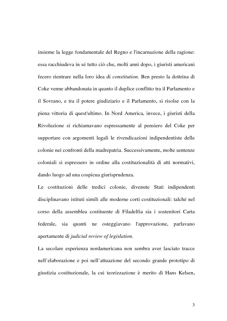 Anteprima della tesi: Giustizia costituzionale nel diritto comparato, Pagina 3