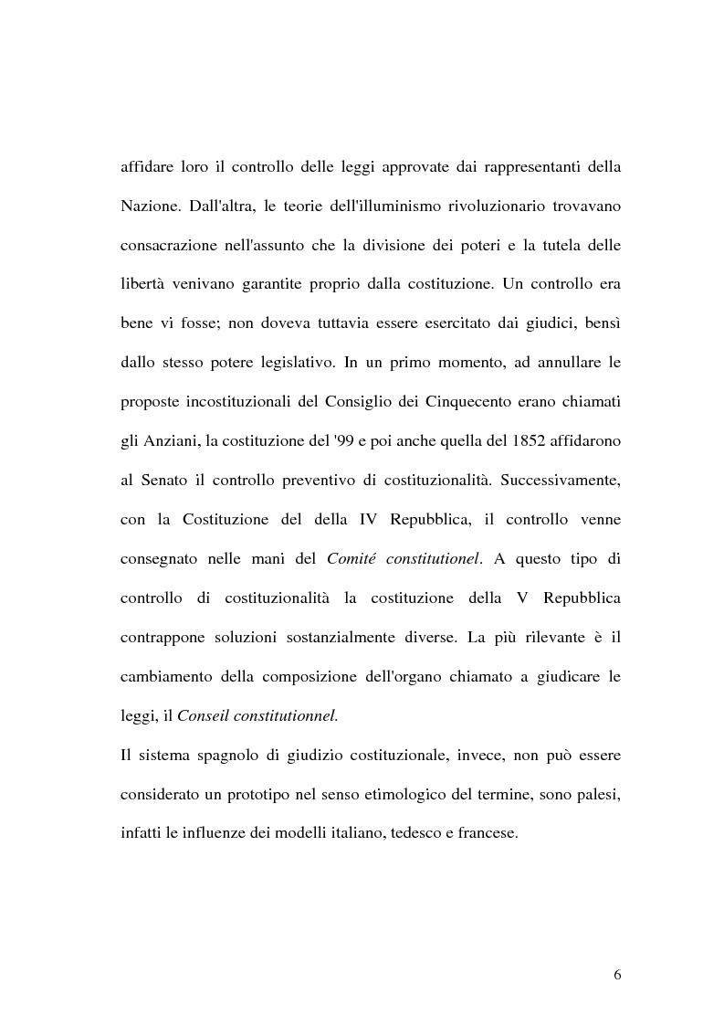 Anteprima della tesi: Giustizia costituzionale nel diritto comparato, Pagina 6