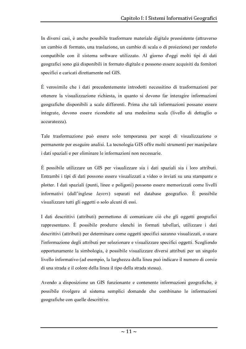 Anteprima della tesi: Le basi di dati geografiche in Spatial Oracle: gestione del dato raster, Pagina 11