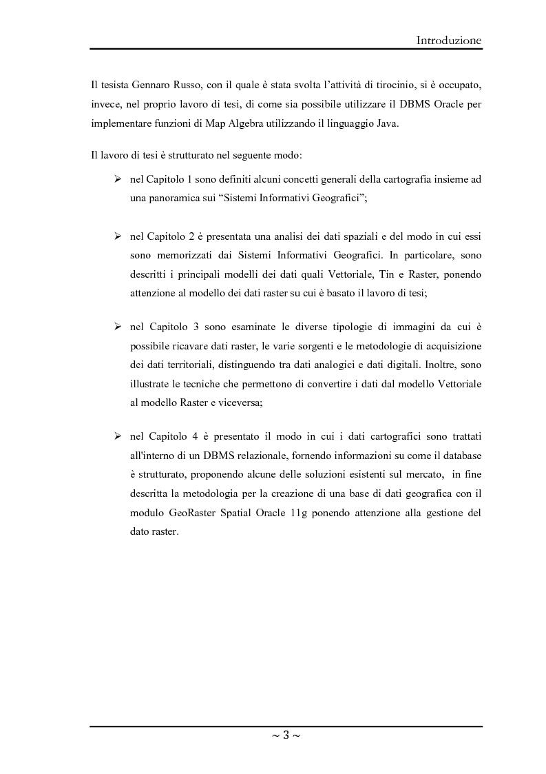 Anteprima della tesi: Le basi di dati geografiche in Spatial Oracle: gestione del dato raster, Pagina 3