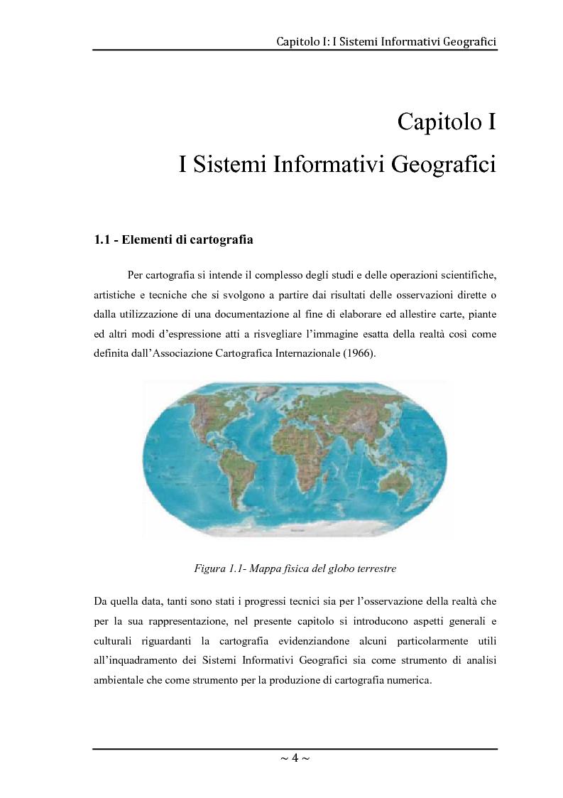 Anteprima della tesi: Le basi di dati geografiche in Spatial Oracle: gestione del dato raster, Pagina 4