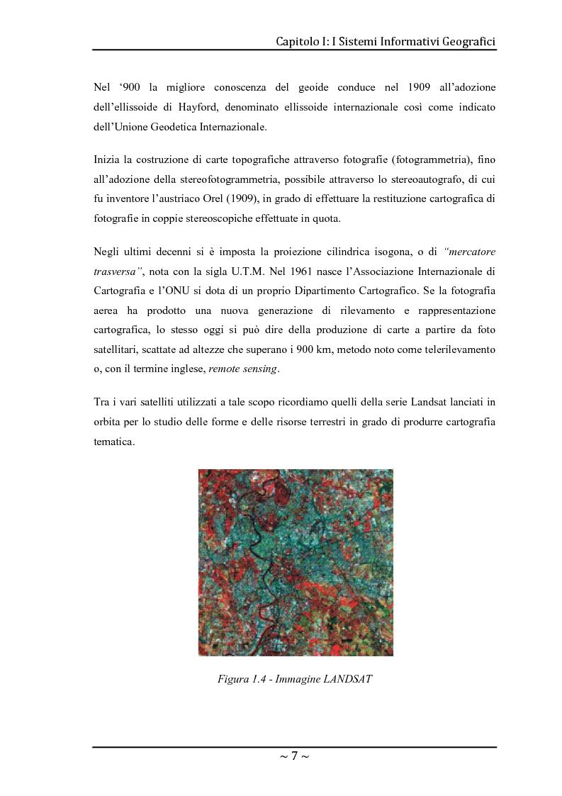 Anteprima della tesi: Le basi di dati geografiche in Spatial Oracle: gestione del dato raster, Pagina 7