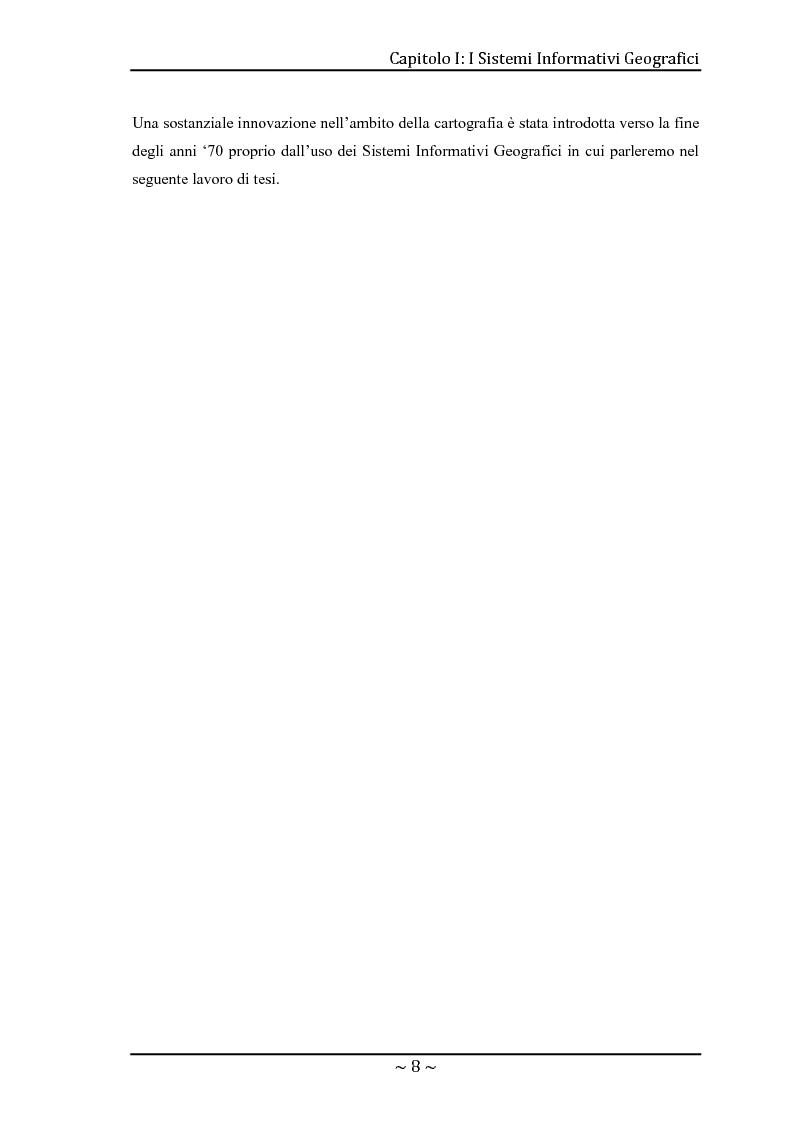 Anteprima della tesi: Le basi di dati geografiche in Spatial Oracle: gestione del dato raster, Pagina 8