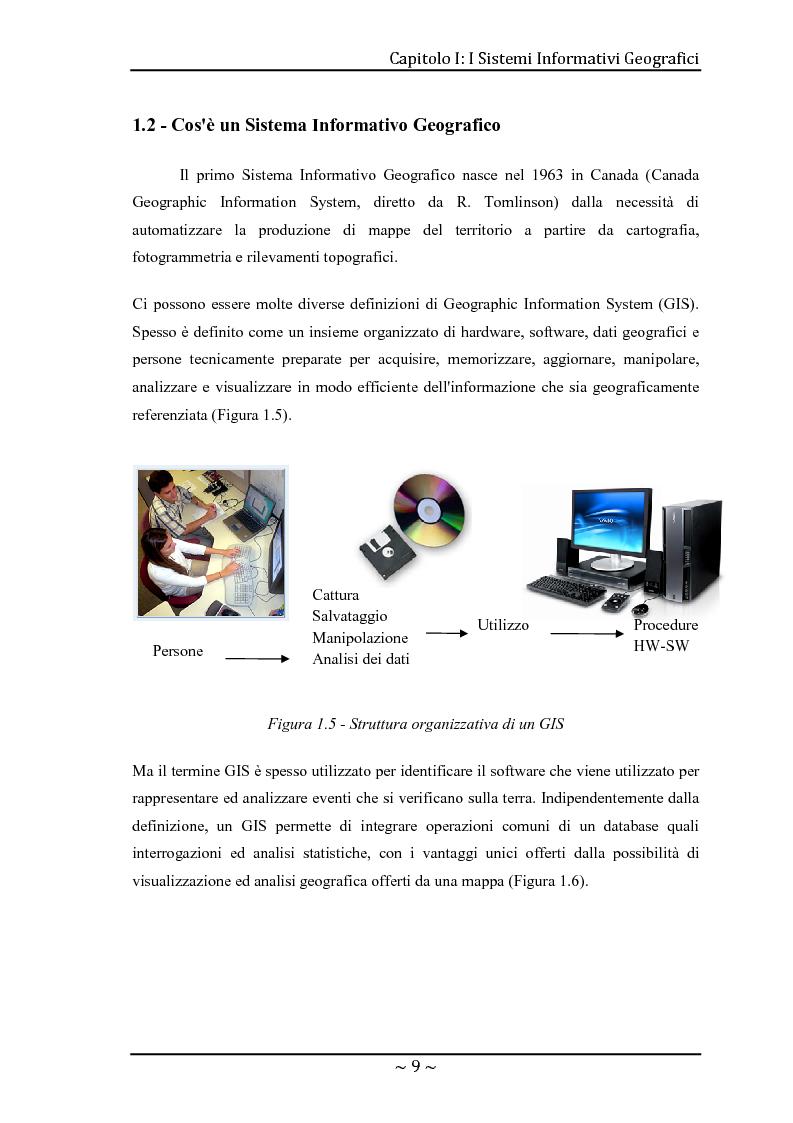 Anteprima della tesi: Le basi di dati geografiche in Spatial Oracle: gestione del dato raster, Pagina 9