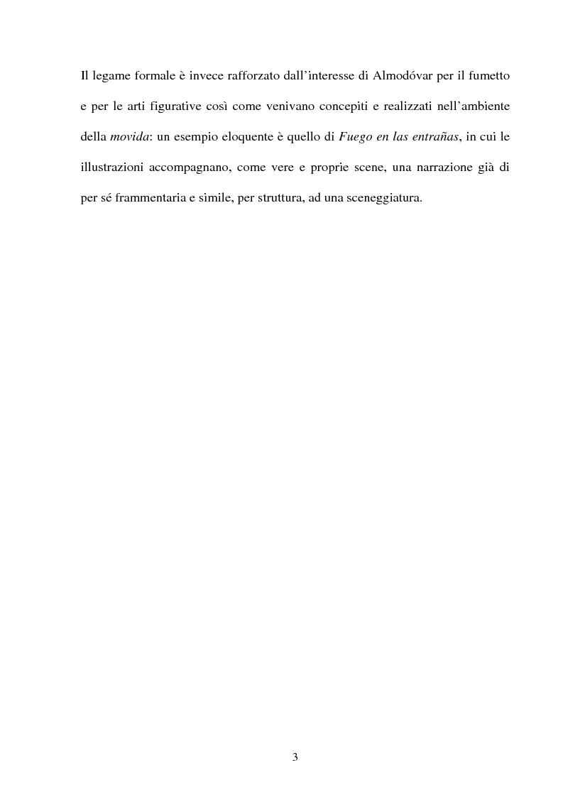 Anteprima della tesi: ''La parola è il più efficace degli effetti speciali'': l'opera di Almodovar tra scrittura e immagini, Pagina 3