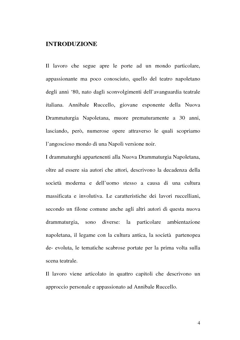 Anteprima della tesi: Sulle ceneri dell'avanguardia. Per il teatro di Annibale Ruccello, Pagina 1