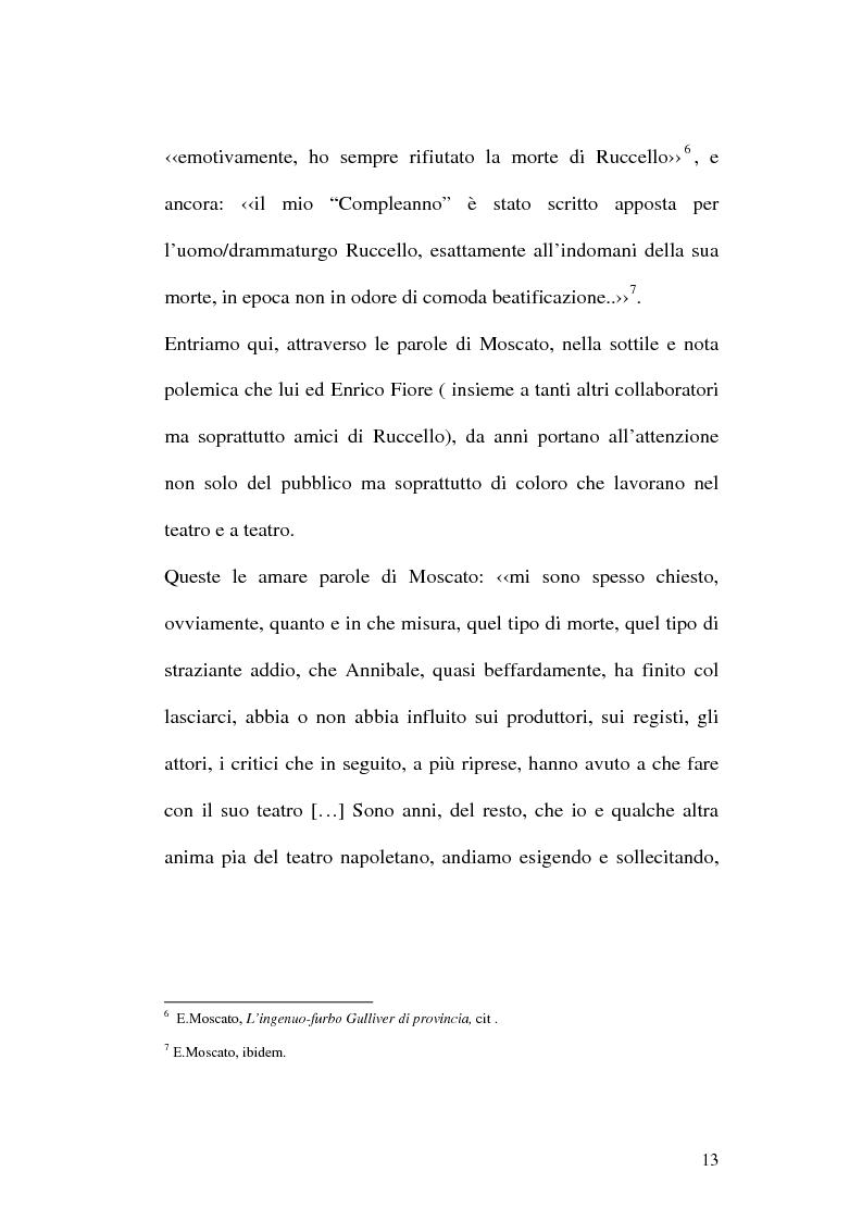 Anteprima della tesi: Sulle ceneri dell'avanguardia. Per il teatro di Annibale Ruccello, Pagina 10