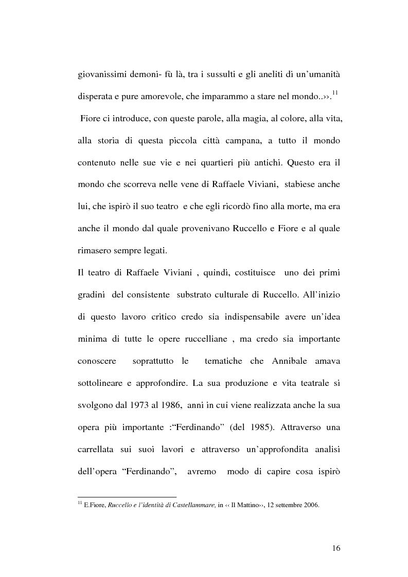 Anteprima della tesi: Sulle ceneri dell'avanguardia. Per il teatro di Annibale Ruccello, Pagina 13