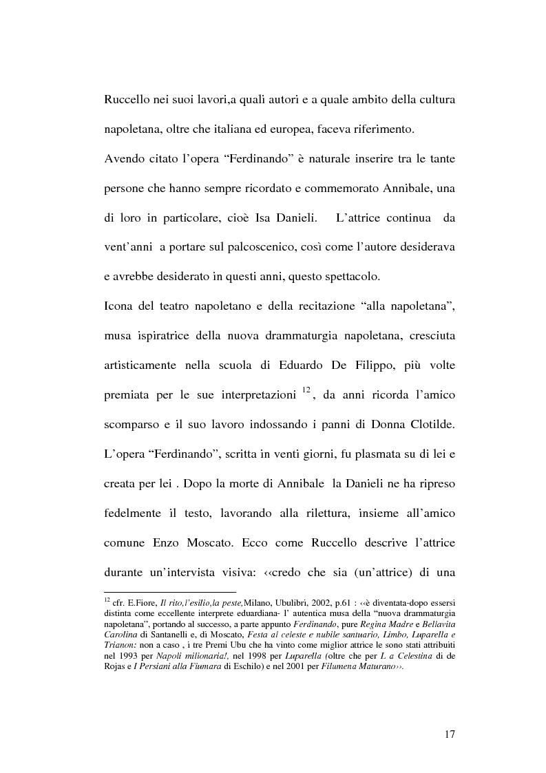 Anteprima della tesi: Sulle ceneri dell'avanguardia. Per il teatro di Annibale Ruccello, Pagina 14